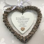 Shabby personalised Chic Special BEST Friend ~ ANY NAME Willow Heart Present BFF - 332886093253